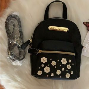 NWT BETSEY JOHNSON FLORAL MINI BACKPACK/CROSSBODY